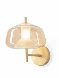 X-Ray, Applique con struttura finitura oro spazzolato