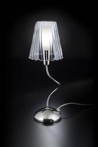 ARIA H 40, Lampada da tavolo con paralume in cristallo