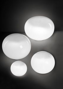 Aria, Lampada da tavolo, a forma di sfera schiacciata