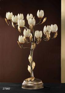 Art. 27960 Fior di Loto, Lampada da tavolo Ottone e vetri soffiati di Murano