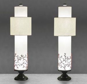 Art. 3019-06-00, Lampada da tavolo con decorazione corallo