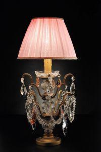 Art. 3850 P Cp, Lampada da tavolo con cristalli Bohemia