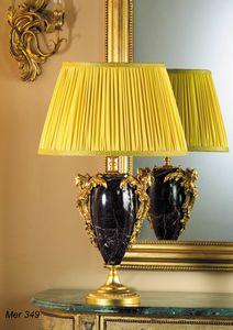 Art. MER 349, Lampada da tavolo in marmo ed ottone