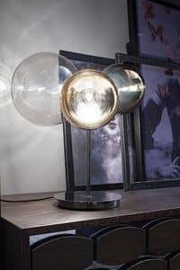 ATOMO, Lampada da tavolo in vetro a 3 luci