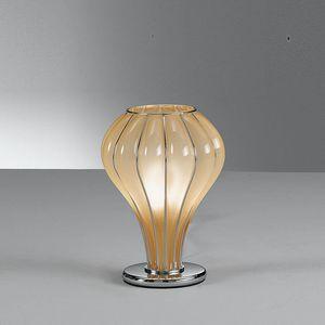 Auriga Rt403-020, Lampada da tavolo in vetro color ambra