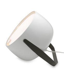 Bag CT154, Lampada da tavolo in ceramica, con manico in metallo