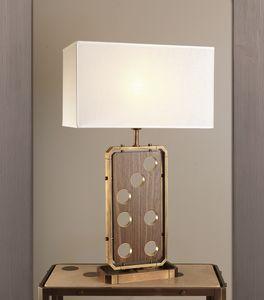 DOMINO HL1076TA-1, Lampada da tavolo con paralume in lino