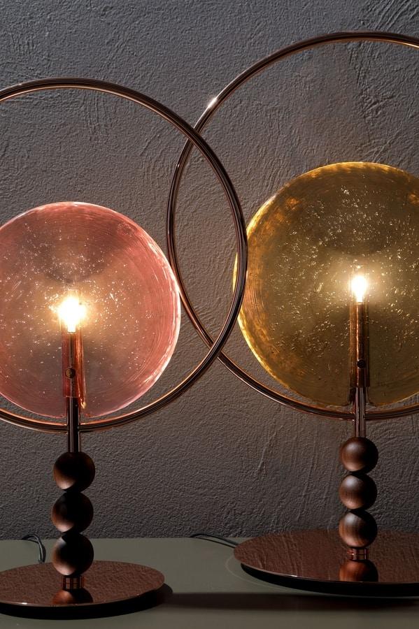 DREAMY, Lampada da tavolo con diffusore in vetro