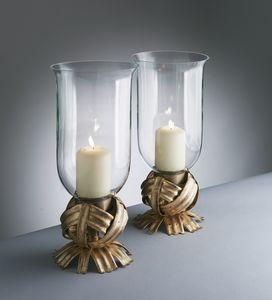 EFFIGE HL1093CA, Candeliere in ferro con vetro