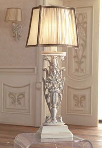 Luigi XVI Art. ABA01/VSIN01/L43, Lampada con paralume in seta increspata