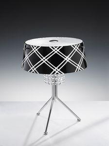 MEDUSA H 42, Lampada da tavolo con pendenti in cristallo molato