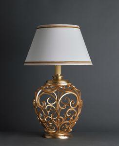 ORCIO HL1030TA-1, Lampada da tavolo con base decorata