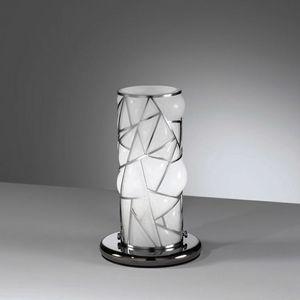 Orione Rt387-020, Lampada da tavolo con griglia decorativa in metallo