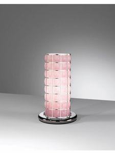 Orione Rt388-020, Lampada abat-jour in vetro rosa