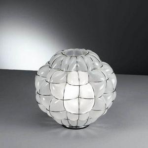 Pouff Rt383-035, Lampada da tavolo in cristallo antico acidato interno