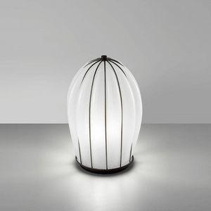 Salice Rt429-030, Lampada da tavolo in vetro bianco, soffiato a mano.