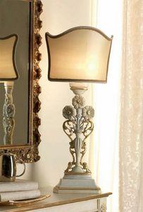 San Pietroburgo Art. ABA02/VSTI02/L43, Lampada da tavolo stile classico, con intagli