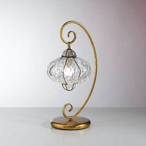Sultano Mt106-050, Lampada da tavolo con diffusore in vetro