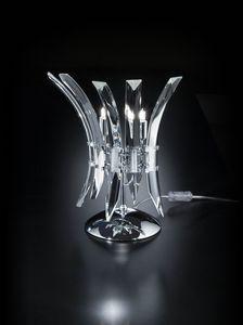 SURF L 28, Lampada da tavolo elegante in cristallo