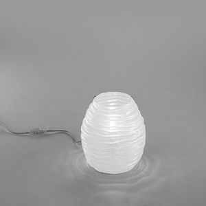 Sydney Lt607-025, Lampada da tavolo in vetro ambra o bianco