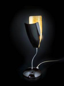 TROPIC H 32, Lampada da tavolo in foglia oro