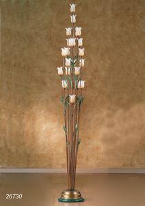 Art. 26730 Butterfly, Lampada da terra con fiori decorativi in vetro di Murano