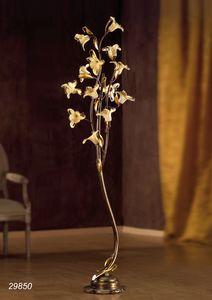 Art. 29820 Jolie, Lampada da pavimento con decori floreali in vetro