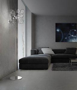 ATOM H 180, Lampada da terra con sfere in cristallo