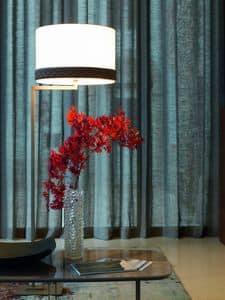 ELYSEE lampada a terra, Lampada da terra con base quadrata e paralume cilindrico