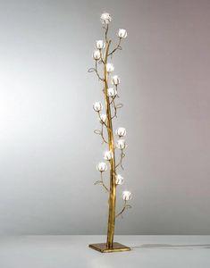Flora Mp277-185, Lampada da terra con 17 luci a forma di fiori