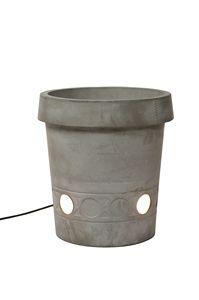Gervaso HP147, Vaso luminoso, in cemento, perfetto per gli esterni