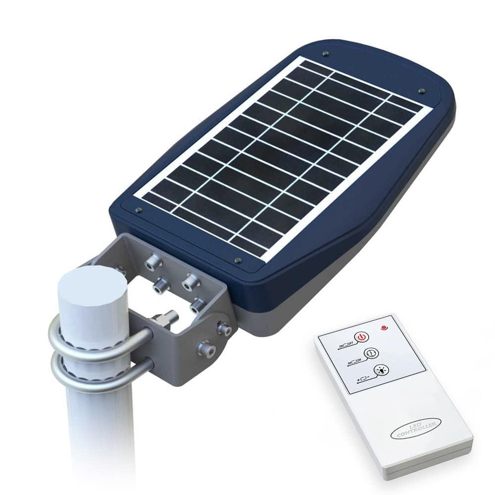 Lampione energia solare stradale con telecomando – LS030LED, Lampione con pannello fotovoltaico, per aree pedonali