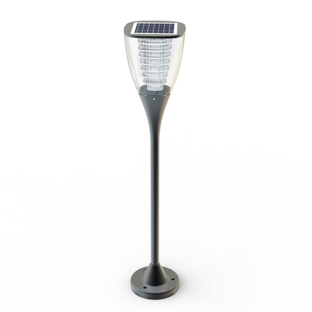 Lampione giardino energia solare led Villa – VL016LED, Lampione a LED, per giardino, con pannello solare