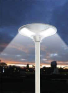 Lampione stradale energia solare led Place, Lampione da esterno, con pannello fotovoltaico
