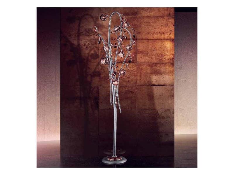 Melograno piantana, Piantana classica con elementi sferici in vetro craquelé