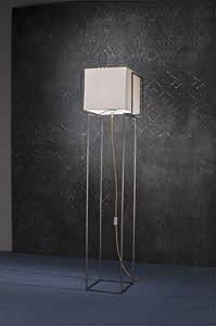 On time lamp, Lampada con struttura in acciaio, bronzata, satinata