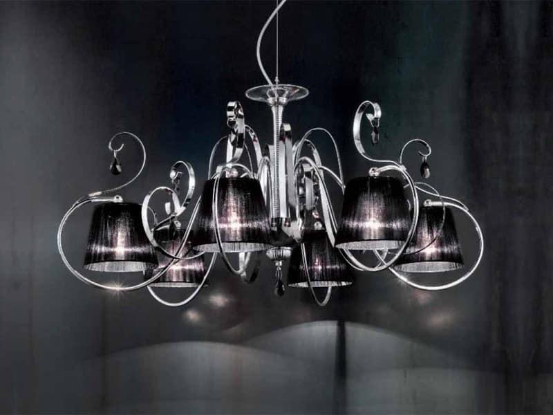 Lampadario con diffusori in organza in stile classico for Immagini lampadari