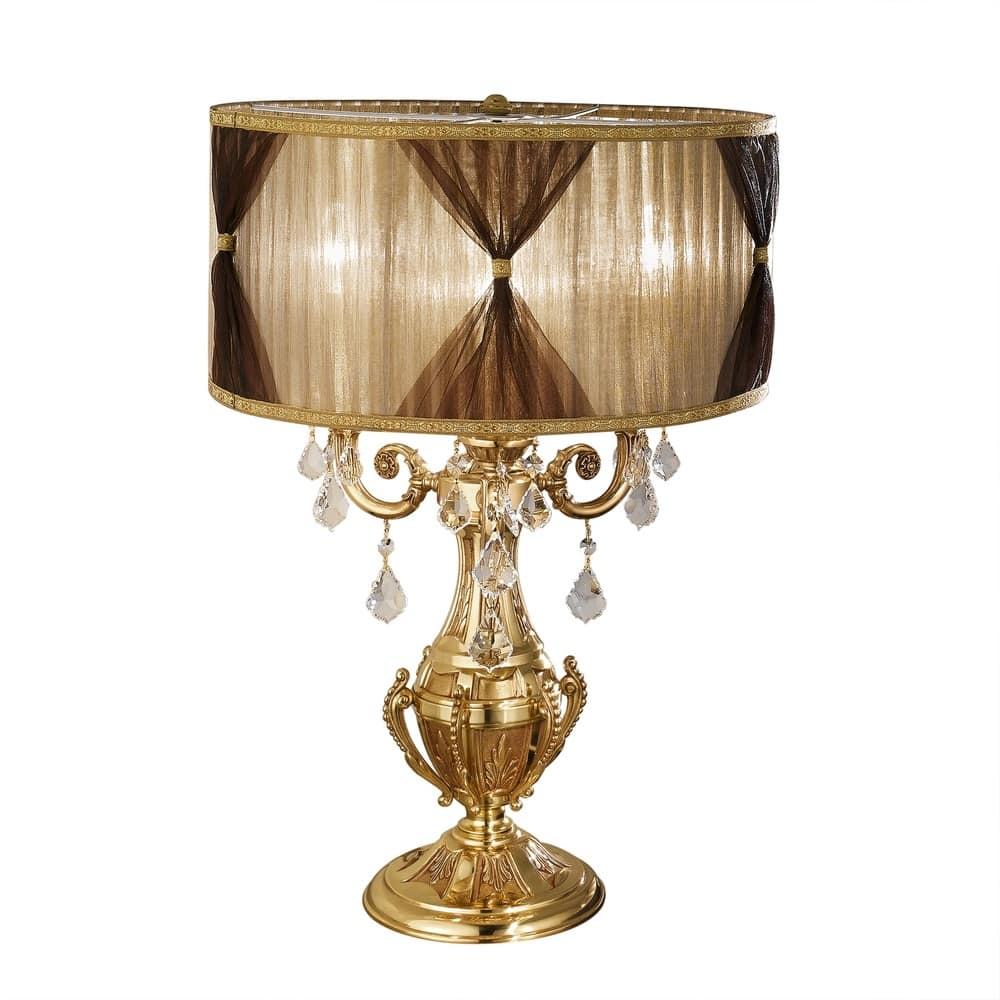 Art. 888/L3-SH/P, Lampada con paralume cilindrico e pendagli