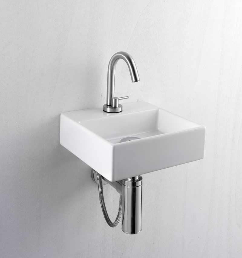 Lavamani in ceramica dalle dimensioni ridotte idfdesign - Mini lavabo bagno ...