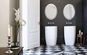 BEYOND BASIN, Elegante lavandino da bagno dalle linee armoniose