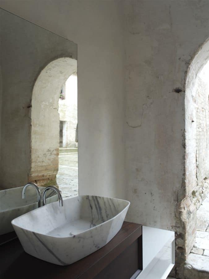 Lavabo in marmo di carrara idfdesign - Lavabo bagno marmo prezzi ...