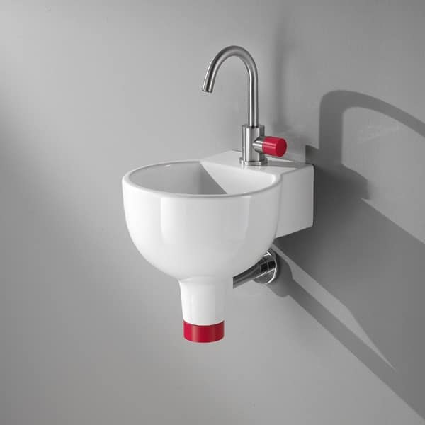 IDEA 2.0 SPHERE WASHBOWL, Lavamani con mensola integrata