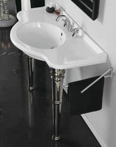 ROYAL CONSOLLE 110, Consolle lavabo in finissima ceramica