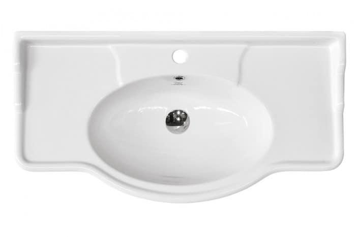 Lavabo A Consolle In Ceramica.Lavabo In Ceramica Installazione A Parete Su Mobile O Con Piedini