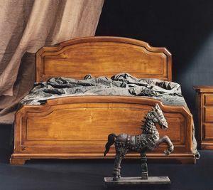 '800 letto, Letto classico in legno