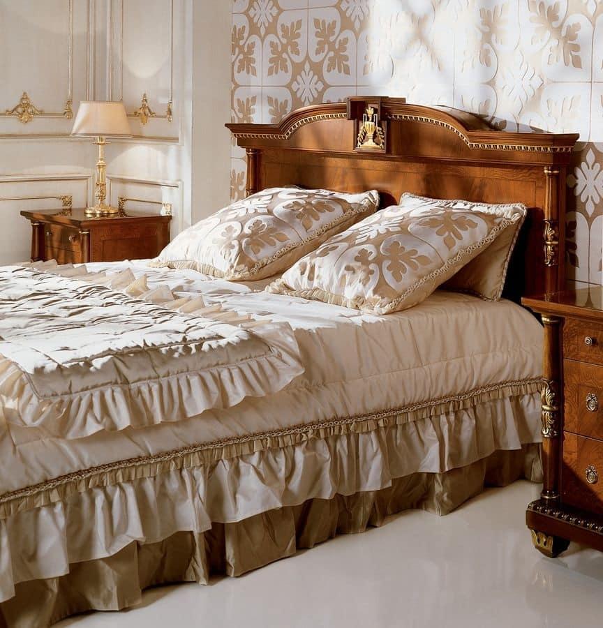 Letto matrimoniale per camere da letto classiche di lusso - Base per letto matrimoniale ...