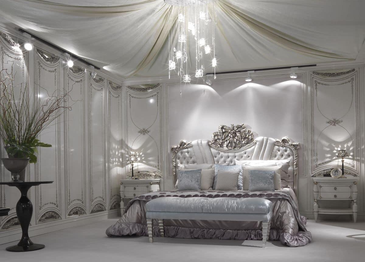 ... capitonné finitura foglia argento per alberghi di lusso  IDFdesign