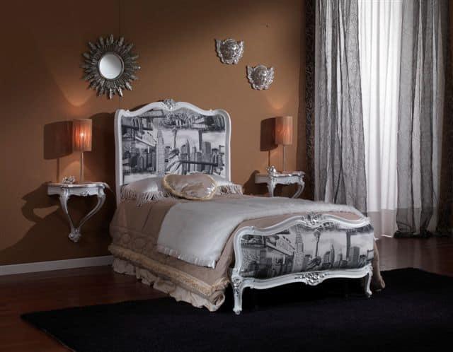 Letto singolo classico di lusso per camere da letto - Camera letto singolo ...