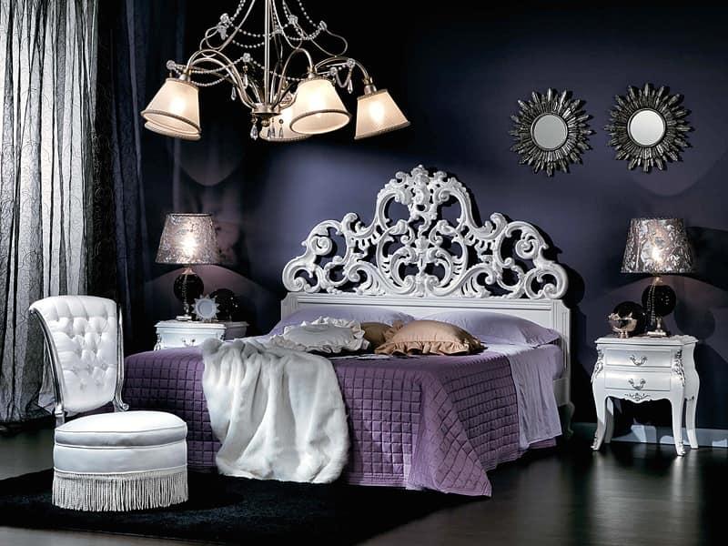 Letto barocco matrimoniale per albergo di lusso idfdesign - Letto stile moderno ...