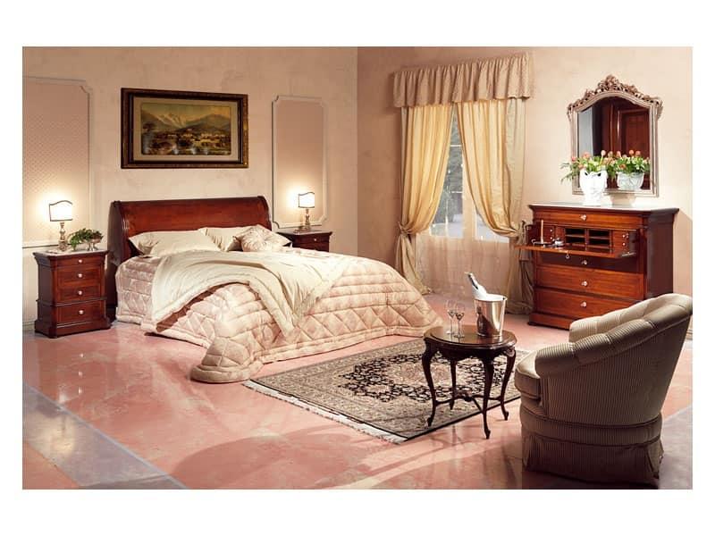 Art. 2026/952/2/L letto, Letti in legno, di lusso, per camere classiche